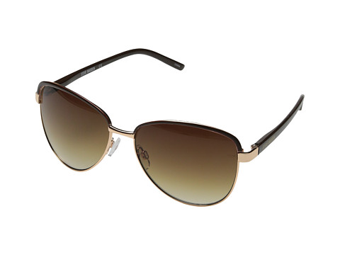 Steve Madden - S5398 (Gold/Brown) Fashion Sunglasses