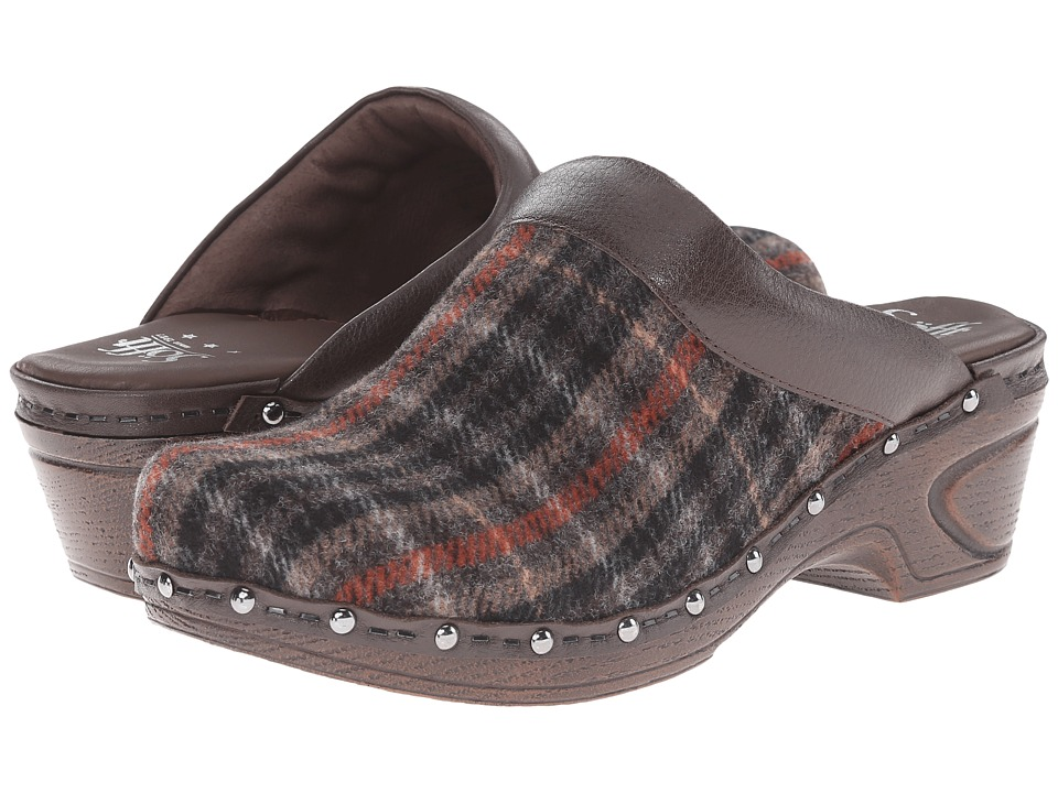 Sofft - Bellrose (Brown/Coffee Lichene Plaid Fabric/Venice) Women
