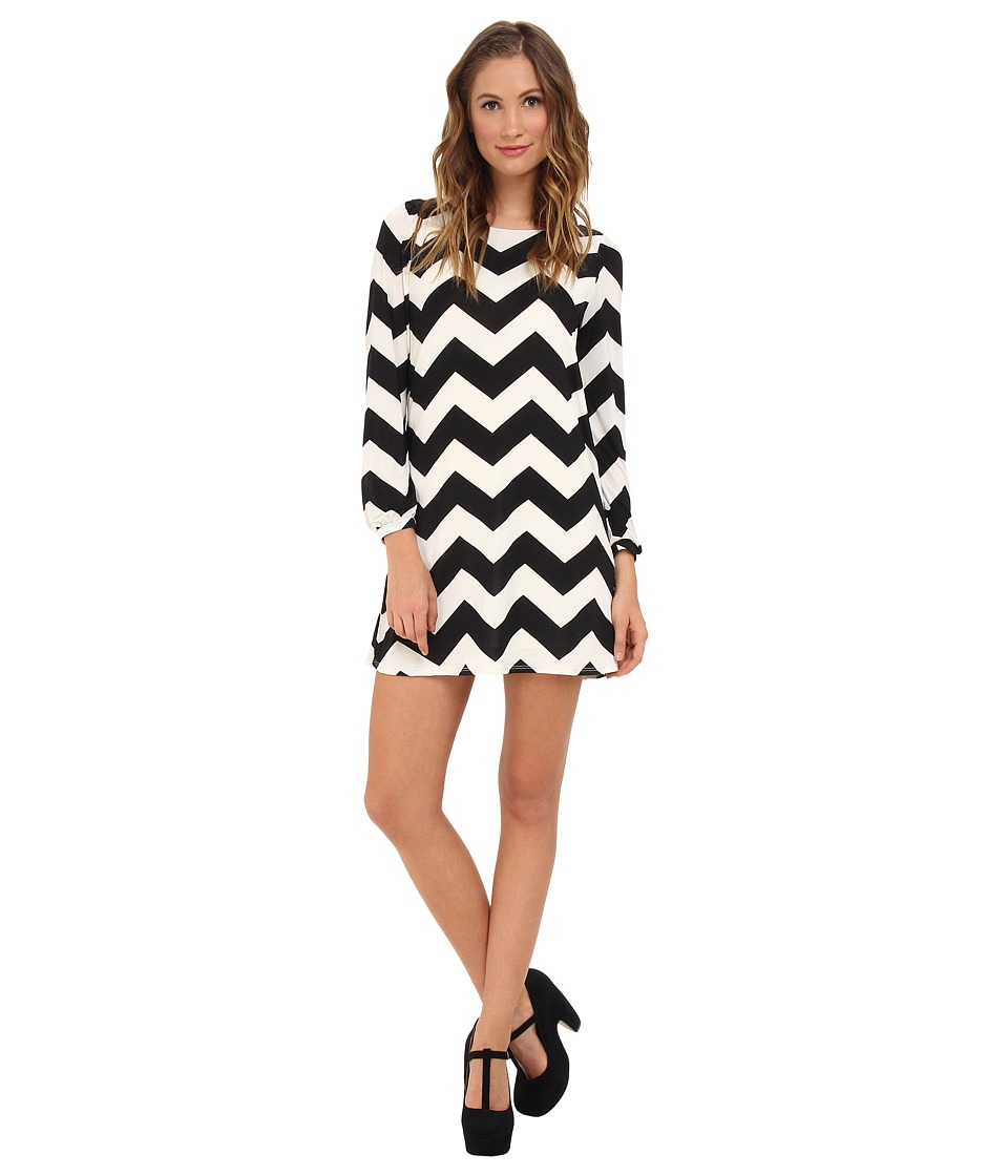 Brigitte Bailey - Skyler Shift Dress (Black/White) Women's Dress