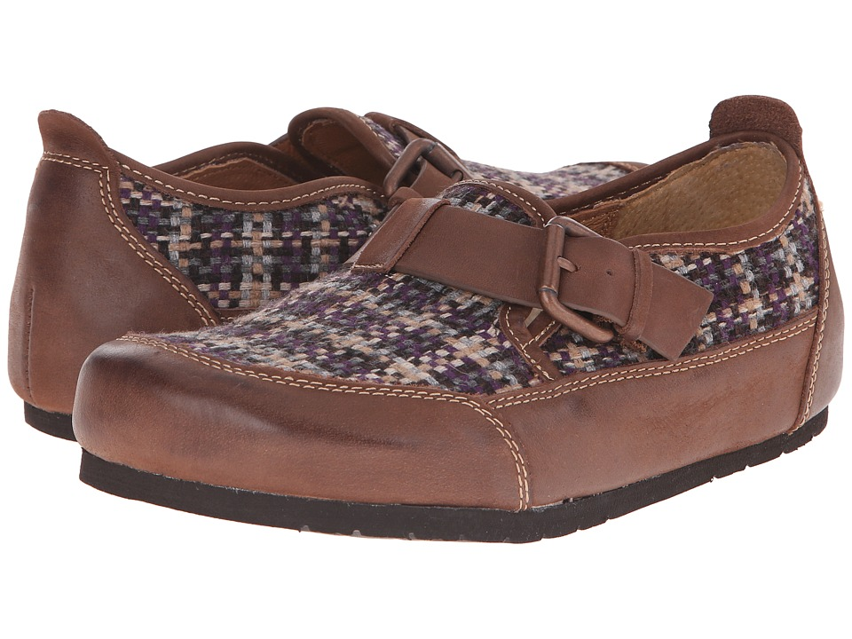 Sofft - Bailee (Purple/Drum Brown Plaid Fabric/Lucca) Women's Shoes