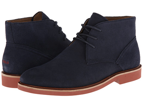 Polo Ralph Lauren - Torrington Chukka NT (Newport Navy Oiled Suede) Men's Lace-up Boots