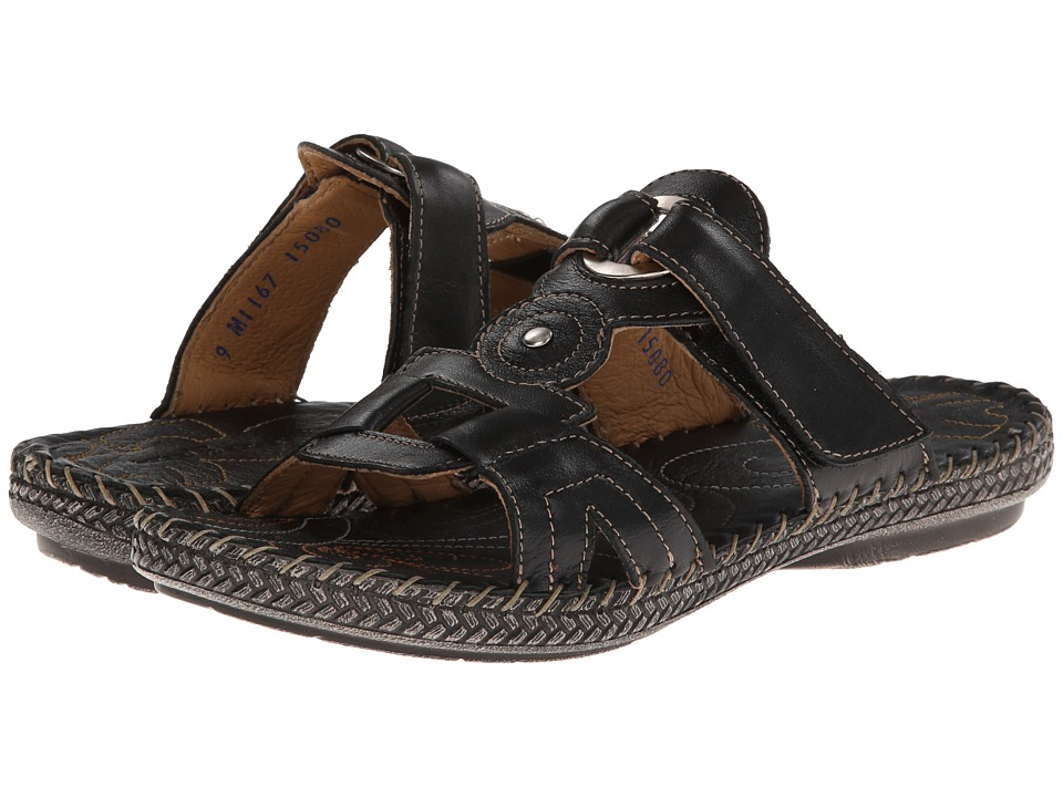 Lobo Solo - Mary (Black Leather) Women's Sandals