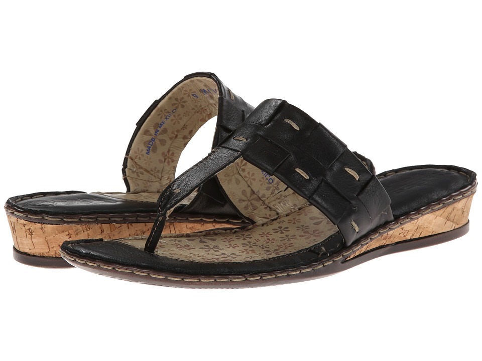 Lobo Solo - Monica (Black Leather) Women's Sandals