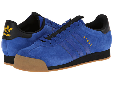 adidas Originals - Samoa - Suede (Collegiate Royal/Black/Bold Gold) Men's Classic Shoes