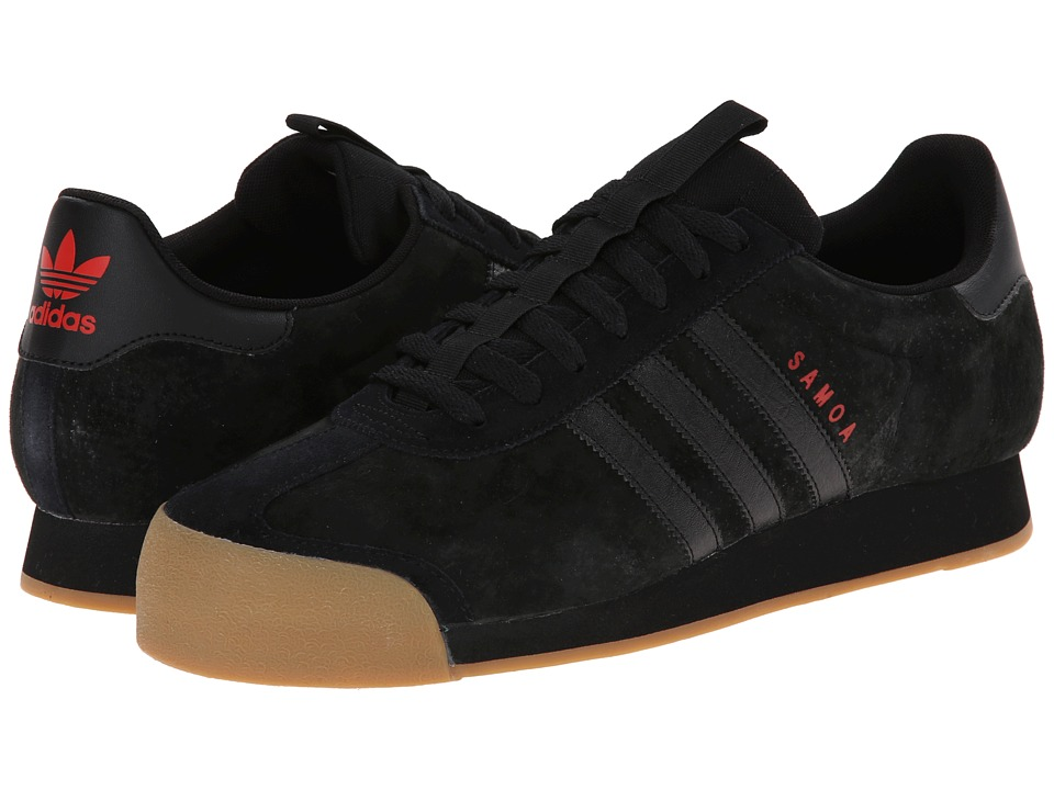 adidas Originals - Samoa - Suede (Black/Light Red) Men