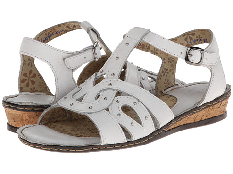 Lobo Solo - Ann (White Leather) Women's Sandals