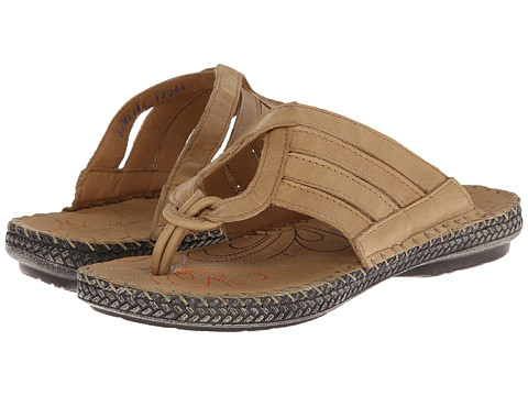 Lobo Solo - Amy (Natural Cr me Leather) Women's Sandals