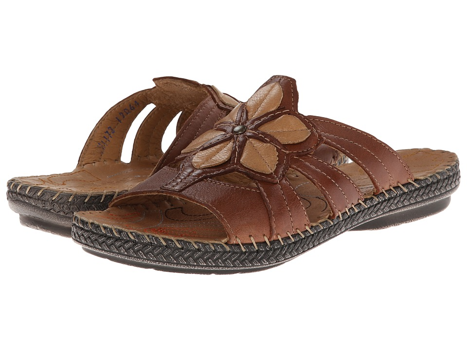 Lobo Solo - Amber (Brown Leather) Women's Sandals