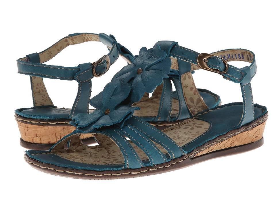 Lobo Solo - Abby (Blue Leather) Women's Sandals