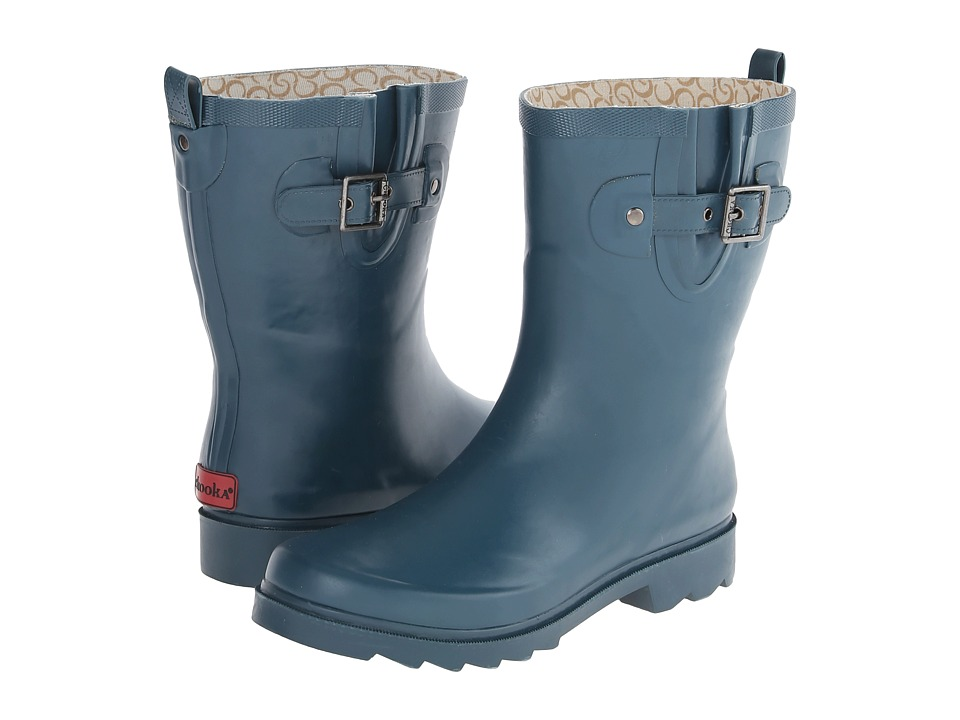 Chooka - Posh Solid Mid (Dark Teal) Women's Rain Boots