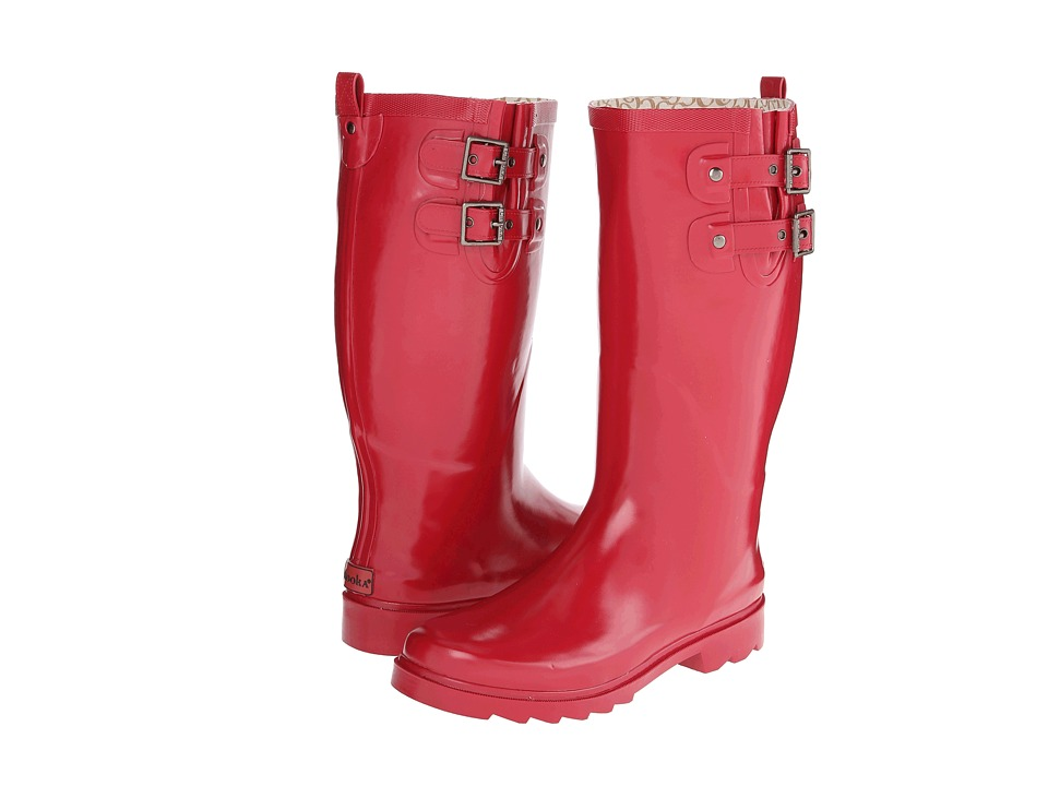Chooka - Posh Solid Tall (Red) Women's Rain Boots