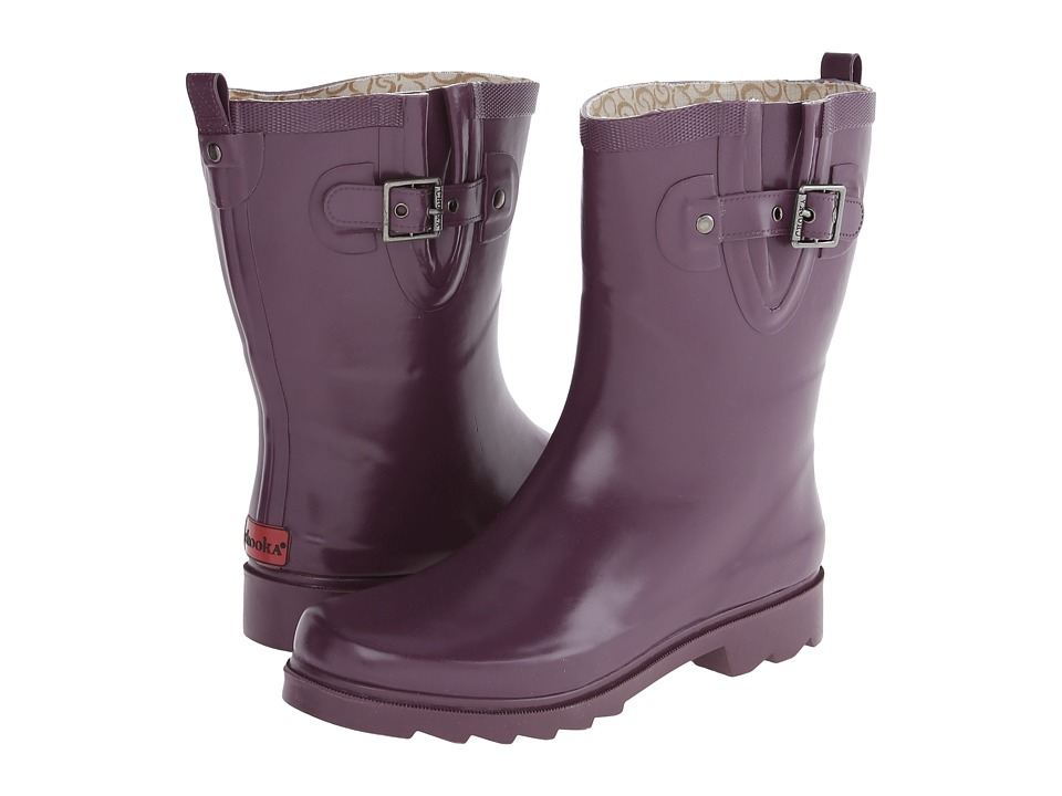 Chooka - Posh Solid Mid (Bright Plum) Women's Rain Boots