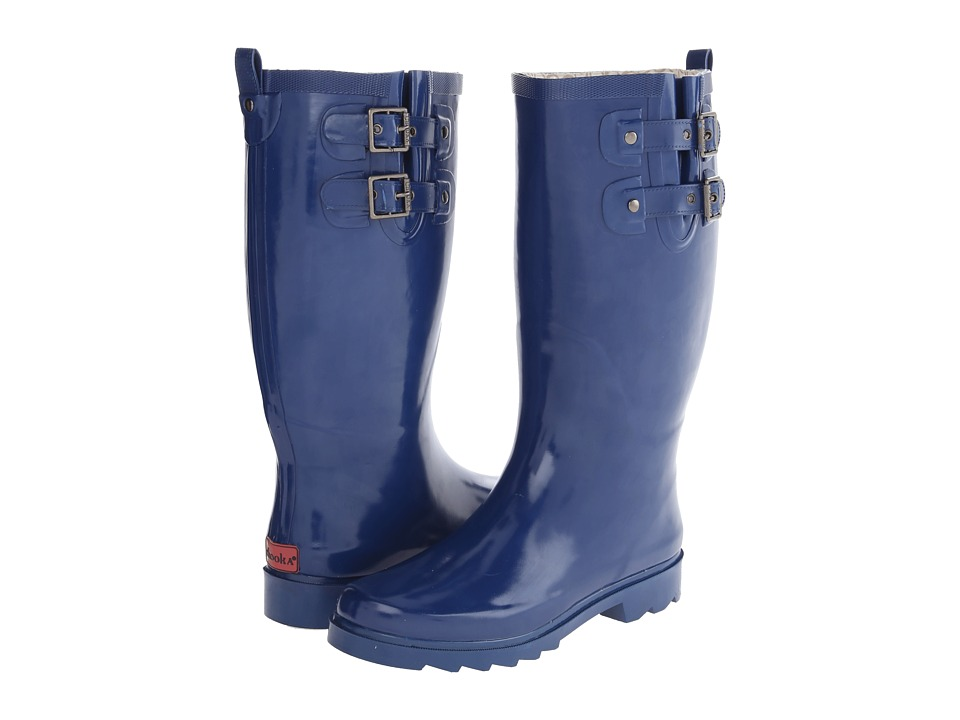 Chooka - Posh Solid Tall (Navy) Women's Rain Boots