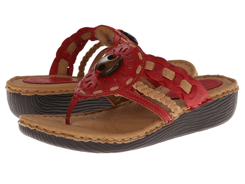 Lobo Solo - Addi (Red/Nude Leather) Women