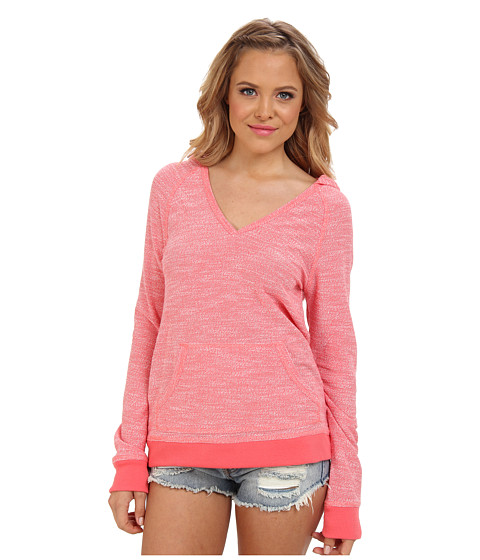 Roxy - One Time Fleece Hoodie (Calypso Coral) Women