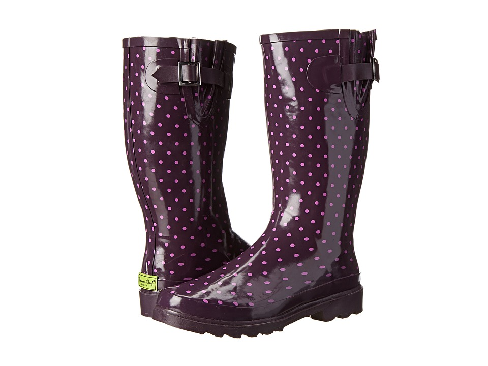 Western Chief - Tonal Dot Boot (Plum) Women's Rain Boots