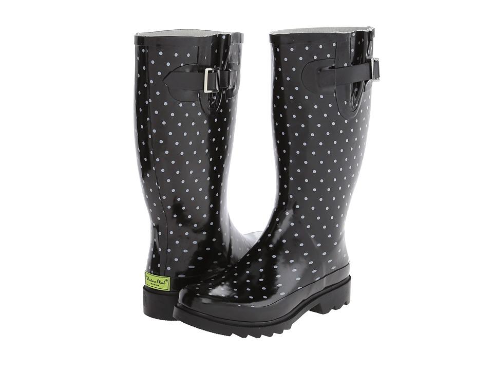 Western Chief - Tonal Dot Boot (Black) Women's Rain Boots