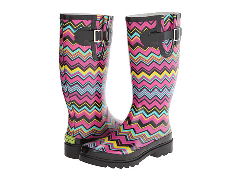 Western Chief - Chevron Stripe Boot (Multi) Women's Rain Boots