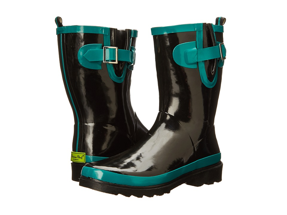 Western Chief - 2 Tone Back Strip Mid Boot (Mid Teal) Women