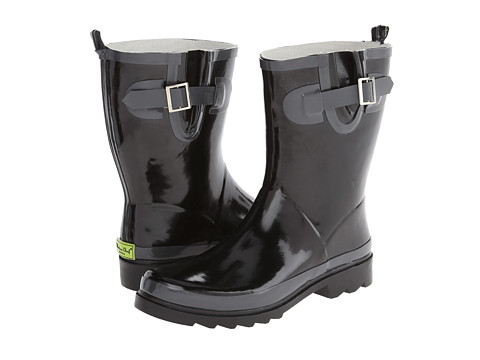 Western Chief - 2 Tone Back Strip Mid Boot (Charcoal) Women's Rain Boots