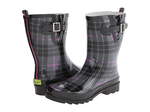 Western Chief - Lumber Plaid Mid Boot (Charcoal) Women's Rain Boots