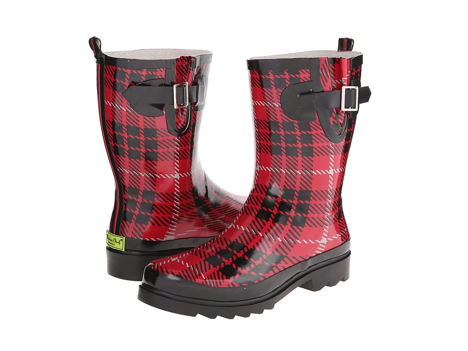 Western Chief Lumber Plaid Mid Boot (Red) Women
