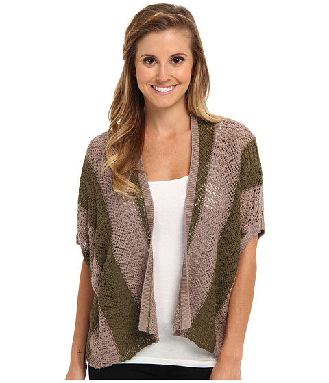 Roxy - Same Old Feeling Open Cardigan (Recruit Olive Stripe) Women