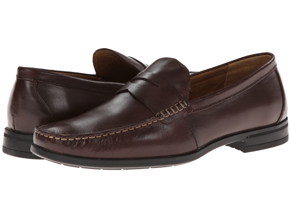 Nunn Bush - Westby Penny Slip-On Penny Loafer (Brown) Men's Slip on Shoes