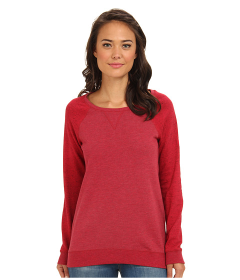 Roxy - Rockaway Crew Neck Top (Rose Red) Women's Long Sleeve Pullover