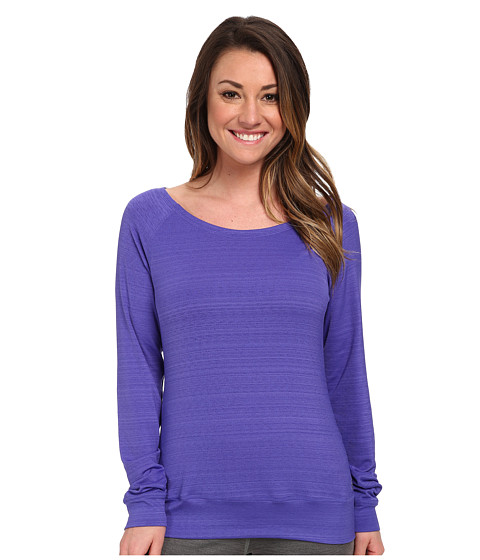 adidas - Twist Long-Sleeve Crew (Power Purple/Solar Red) Women