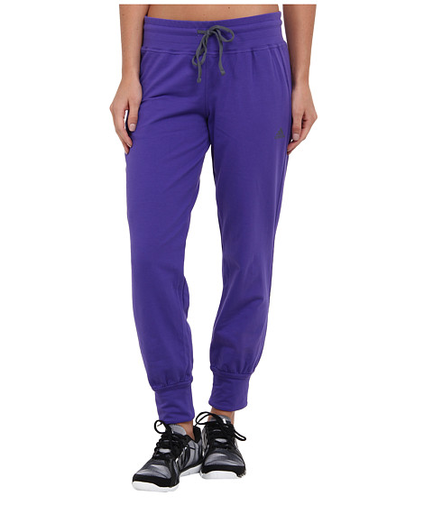 adidas - Boyfriend 7/8 Pant (Power Purple/Onix) Women's Casual Pants