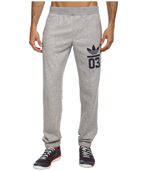 adidas Originals - 3Foil Track Pant (Medium Grey Heather/Collegiate Navy) Men
