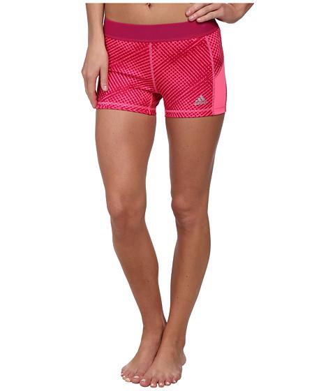 adidas - Techfit 3 Boy Short - Energy Grid (Bold Pink/Matte Silver) Women