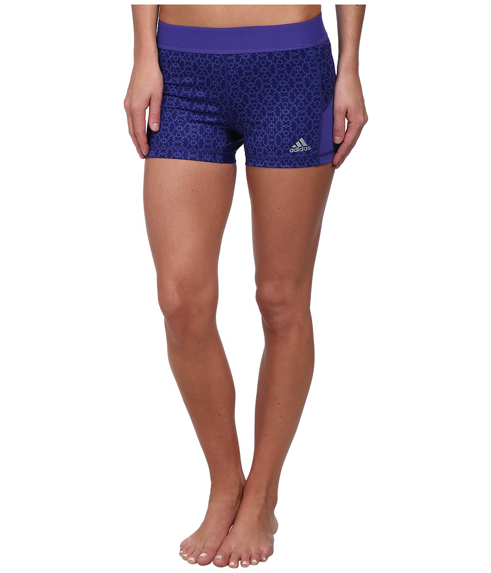 adidas - Techfit 3 Boy Short - Geo Crystal (Amazon Purple/Matte Silver) Women's Shorts