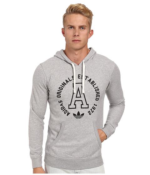 adidas Originals - Slim French Terry Hoody (Medium Grey Heather) Men's Sweatshirt