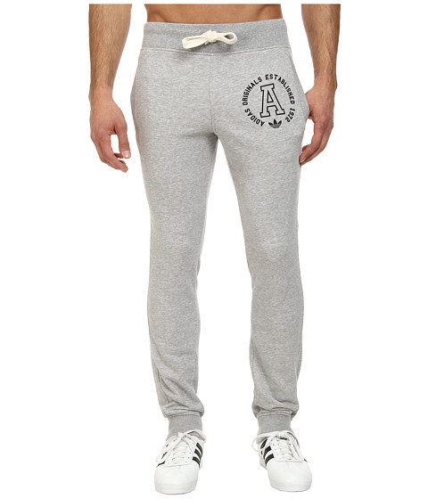 adidas Originals - Slim French Terry Sweatpants (Medium Grey Heather) Men's Casual Pants