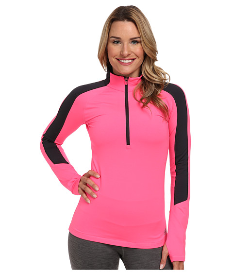 adidas - Techfit Cold Weather Half Zip (Solar Pink/Night Grey) Women's Long Sleeve Pullover