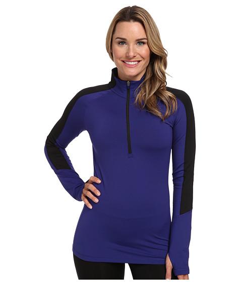 adidas - Techfit Cold Weather Half Zip (Amazon Purple/Black) Women