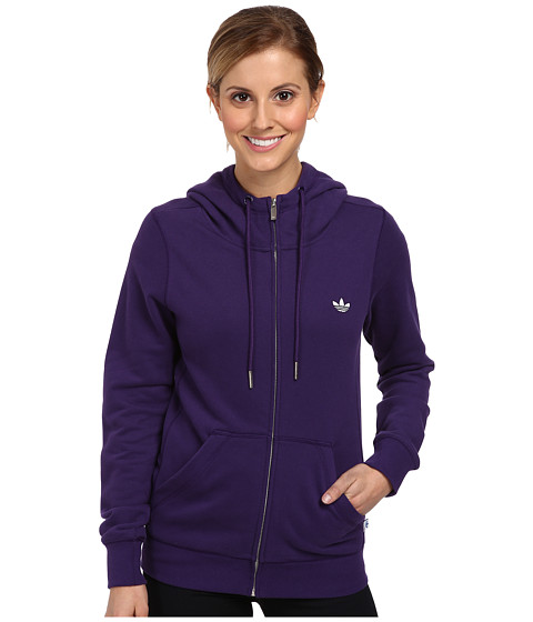 adidas Originals - Slim Zip Hoody (Dark Purple) Women's Sweatshirt