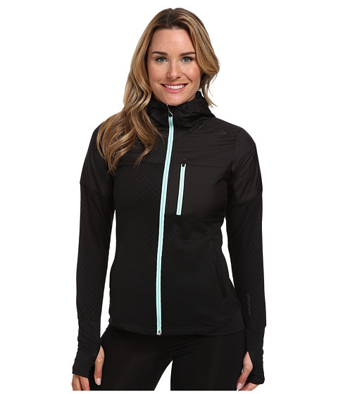 adidas - Climaheat Hydro Full-Zip Hooded Jacket (Black/Frost Mint) Women's Sweatshirt