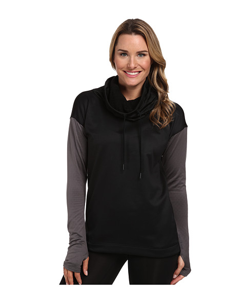 adidas - Climaheat Blaze Top (Black/Granite) Women's Long Sleeve Pullover