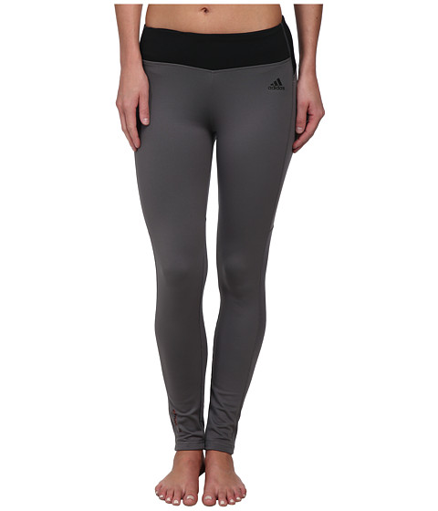 adidas - Climaheat Long Tight (Granite/Black) Women