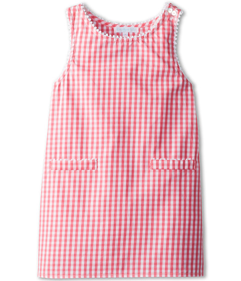 Elephantito - A Line Dress (Little Kids/Big Kids) (Hot Pink Vichy) Girl's Dress