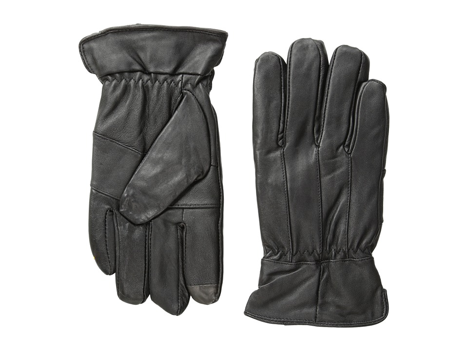 Florsheim - Smart Touch Leather Gloves (Black) Dress Gloves