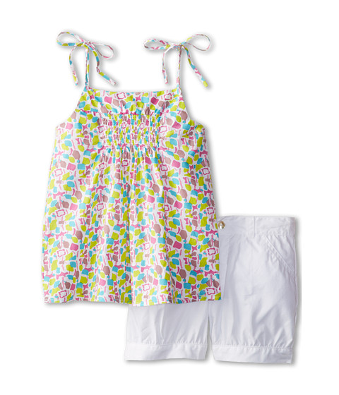 Elephantito - Short Set (Little Kids/Big Kids) (Lime Punch) Girl's Active Sets