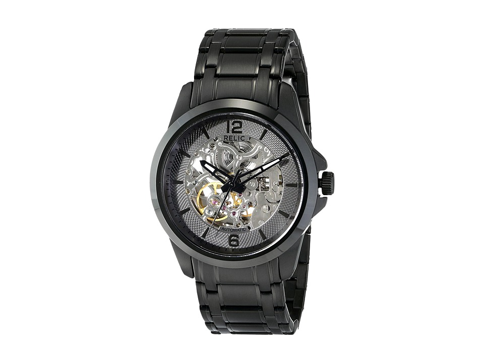 Relic - Round Automatic (Black IP) Watches