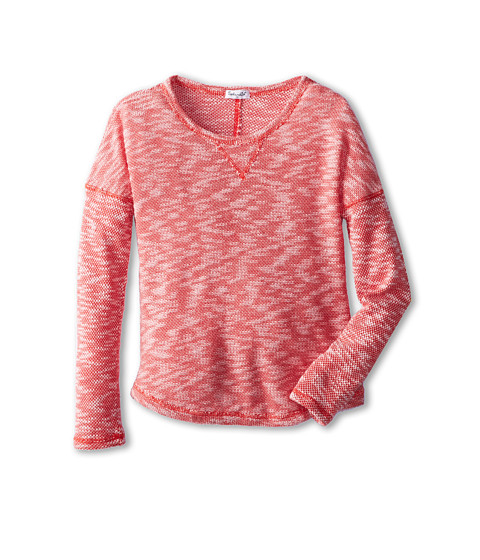 Splendid Littles - Texture Loose Knit L/S Top (Big Kids) (Red) Girl