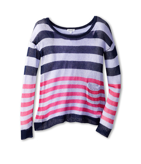 Splendid Littles - Stripe Loose Knit L/S Top And Cami (Big Kids) (Lavender) Girl's Long Sleeve Pullover