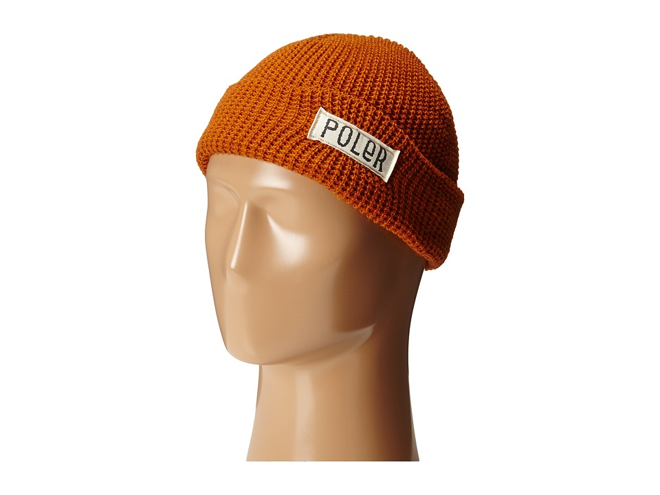 Poler - Workerman Beanie (Burnt Orange) Beanies