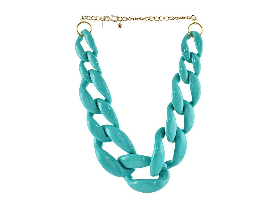 Kenneth Jay Lane - The Housewives Go To Necklace (Turquoise) Necklace
